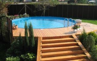Деревянная терраса вокруг бассейна своими руками — поэтапное руководство