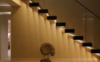 Подсветка лестницы — какую систему лучше выбрать?