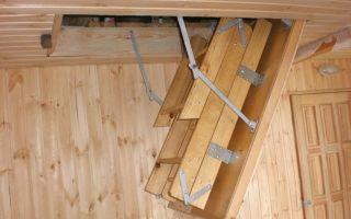 Лестница раскладная на чердак своими руками — делаем пошагово
