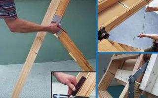 Лестница на мансарду своими руками — пошаговая инструкция