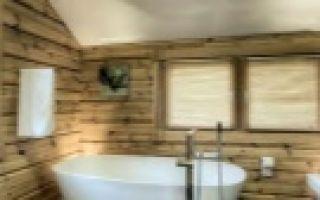 Ванная в деревянном доме — основные требования, подборка вариантов с фото дизайном