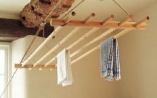 Потолочная сушилка для белья на балкон — как выбрать подходящую?