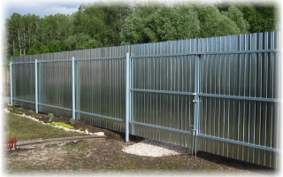 Металлический забор своими руками — пошаговая инструкция