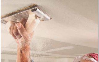 Шпаклевка потолка своими руками — пошаговая инструкция