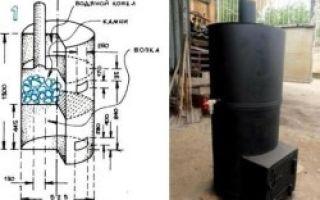 Печь своими руками из металла — изготовление и установка