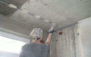 Штукатурка потолка своими руками — инструкция пошагово