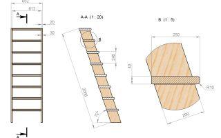 Лестница в погреб — несколько вариантов для самостоятельного строительства