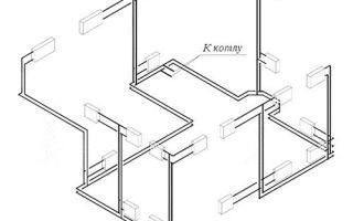 Двухтрубная система отопления частного дома — варианты, схемы и монтаж своими руками