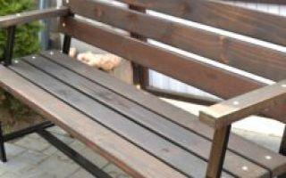 Садовая скамейка своими руками — пошаговые инструкции