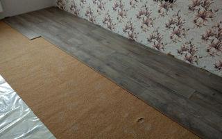 Укладка ламината на бетонный пол с подложкой — пошаговое руководство