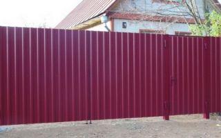 Ворота из профлиста своими руками — пошаговая инструкция