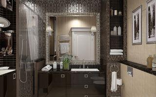 Интерьер ванной комнаты совмещенной с туалетом — несколько креативных рекомендаций