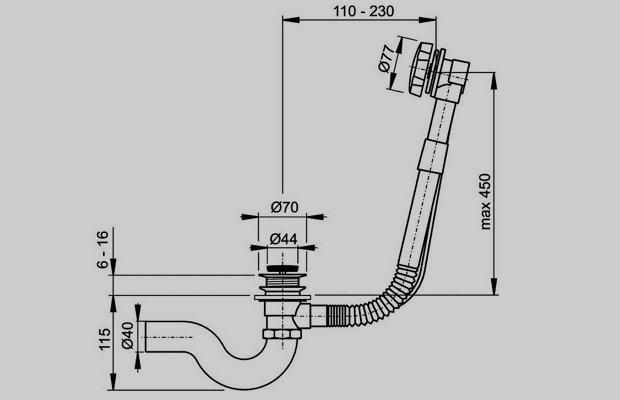 Слив перелив для ванны — устройство, разновидности, монтаж