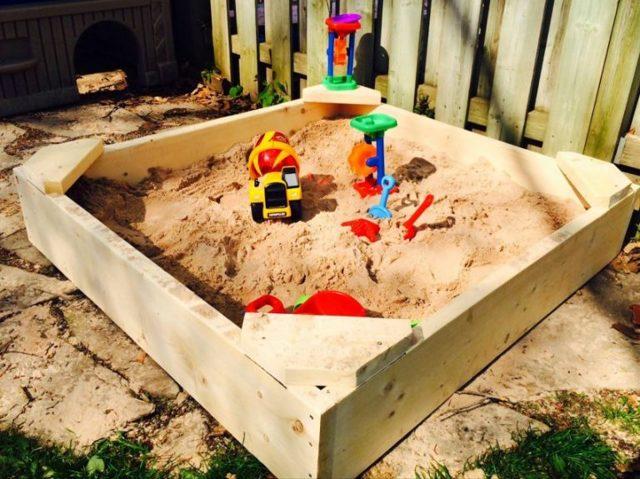 Песочница своими руками - пошаговая инструкция