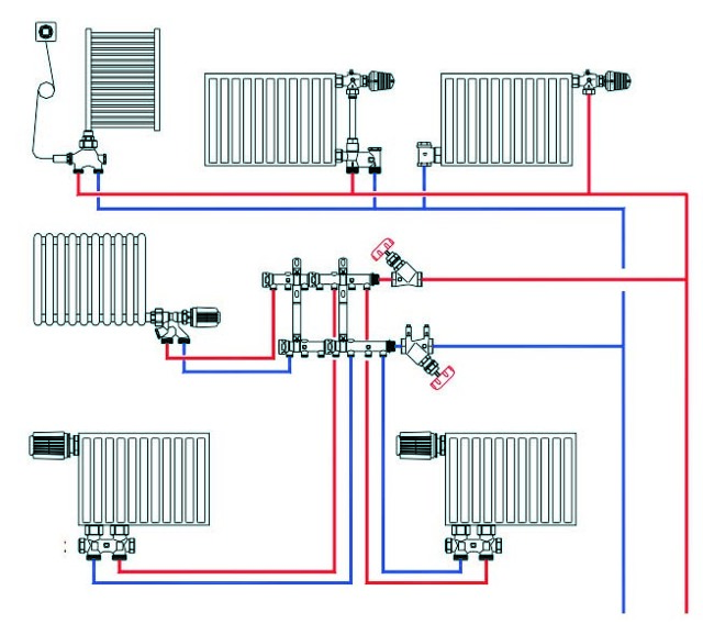 Схема отопления двухэтажного дома - обзор вариантов, рейтинг лучших циркуляционных насосов