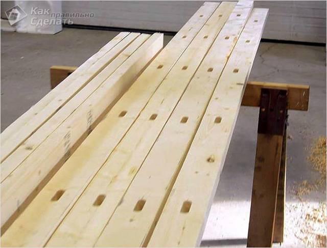 Строительные леса своими руками - 2 варианта, инструкции