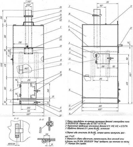 Котел для бани своими руками - инструкция и монтаж