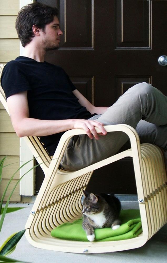 Кресло-качалка своими руками - несколько доступных вариантов из дерева с чертежами