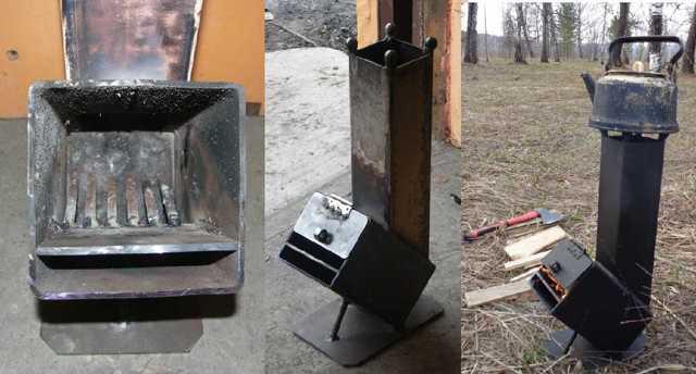 Печь робинзон своими руками - несколько доступных вариантов