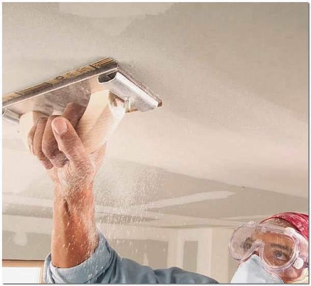 Шпаклевка потолка своими руками - пошаговая инструкция