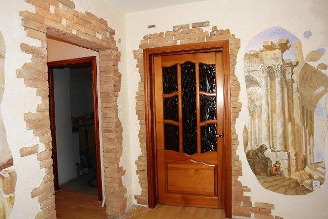 Дверной проем без двери - интересное интерьерное решение