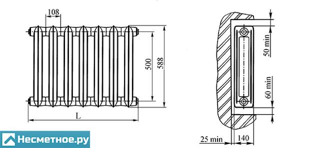 Чугунный радиатор МС 140 технические характеристики и особенности монтажа