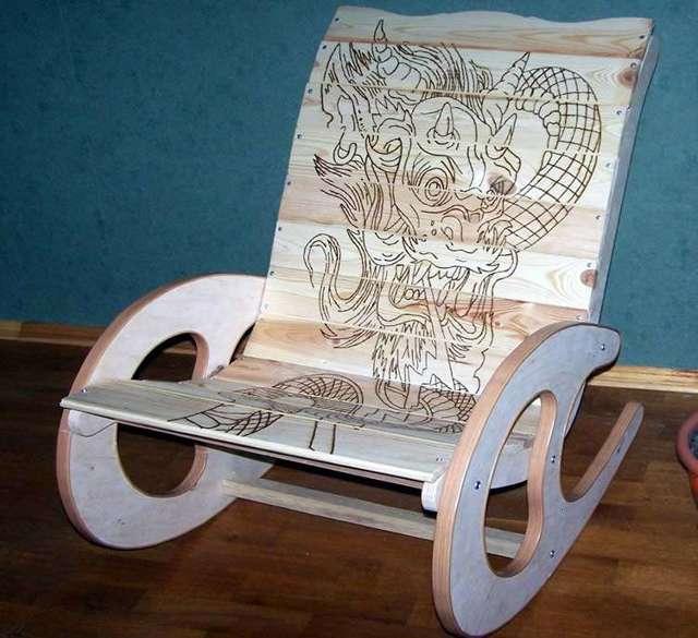 Кресло-качалка своими руками из фанеры - идеи + 2 мастер-класса