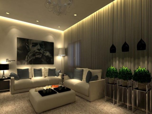 Освещение в гостиной - правила организации и несколько интересных примеров с фото дизайном