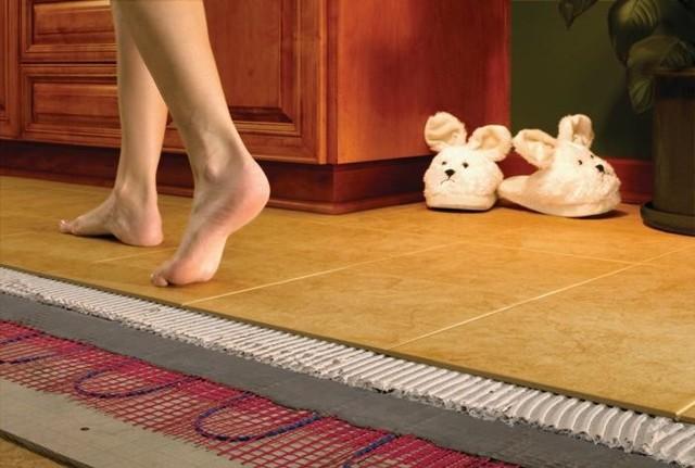Теплый пол электрический своими руками - монтаж, пошаговая инструкция