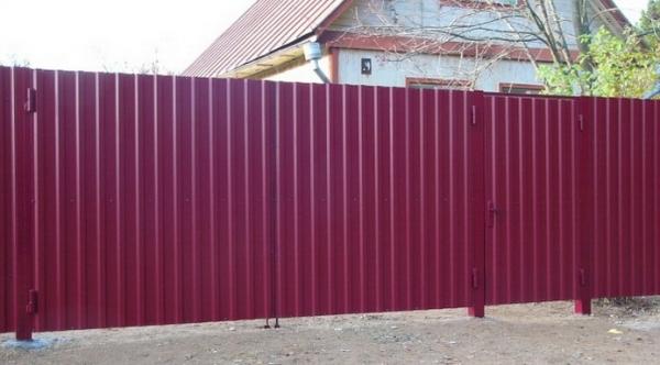 Ворота из профлиста своими руками - пошаговая инструкция
