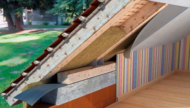 Утепление крыши изнутри - несколько способов