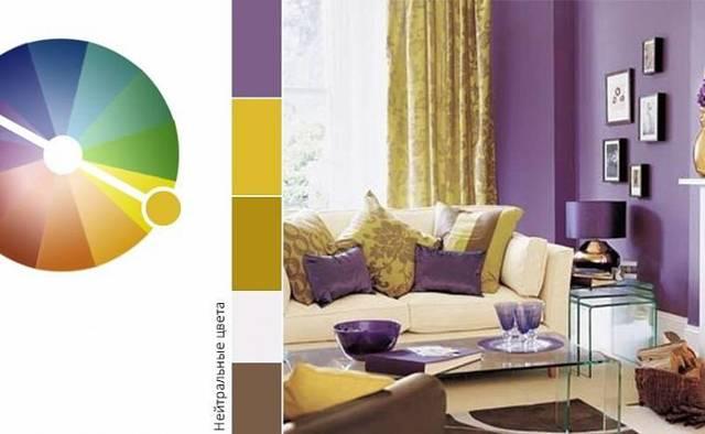 Сочетание цветов в интерьере таблица и варианты - самостоятельно проектируем сочетание цвета