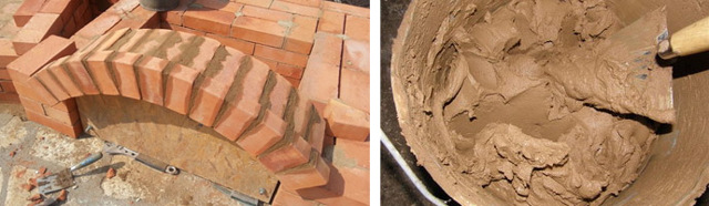 Глина для кладки печей - подбор и использование в растворах