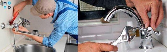 Как поменять смеситель на кухне - учимся и делаем сами