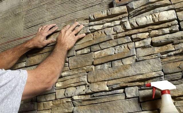 Монтаж искусственного камня своими руками - наглядные инструкции