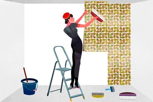 Как клеить виниловые обои - учимся самостоятельной отделке помещения