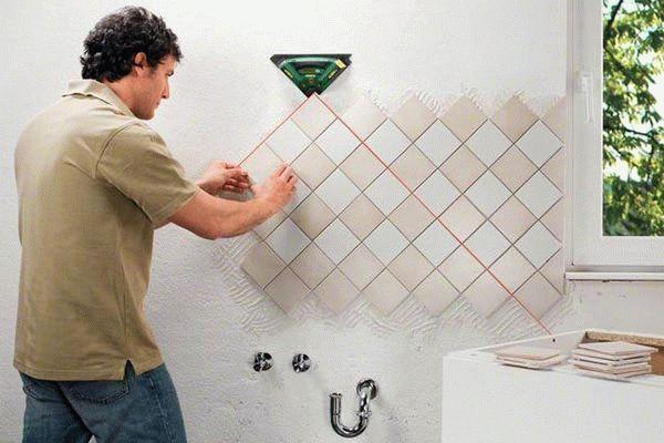 Облицовка внутренних стен керамической плиткой: технология