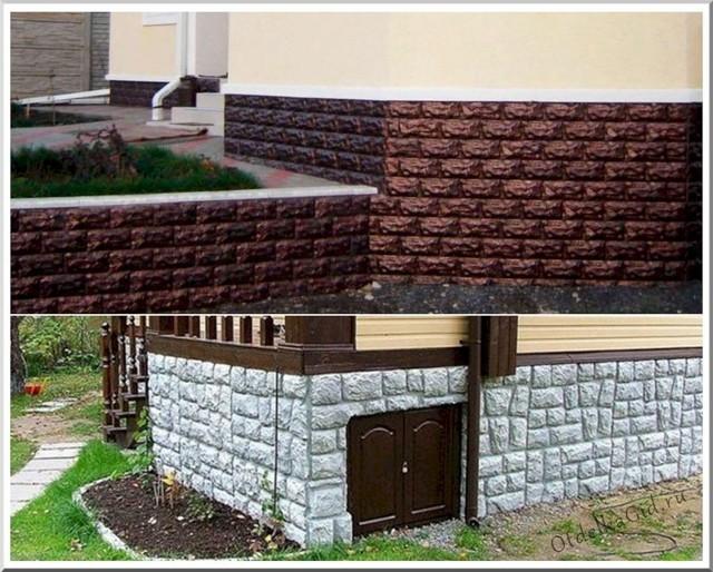 Облицовка цоколя дома искусственным камнем - несколько доступных технологий