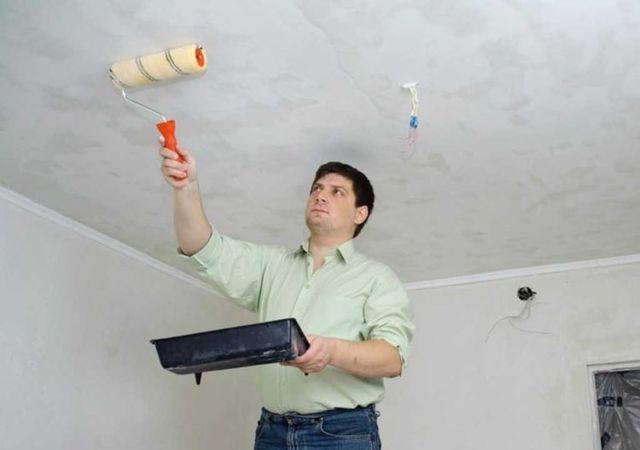Как зашпаклевать потолок под покраску без пыли своими руками, видео