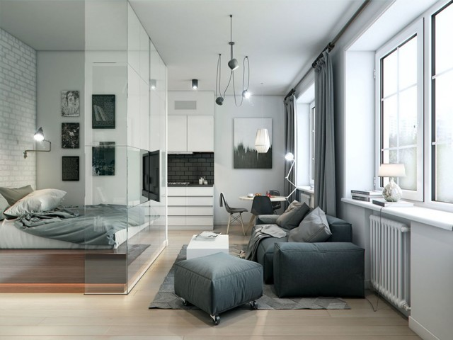 Дизайн однокомнатной квартиры 35 кв. м – фото лучших проектов