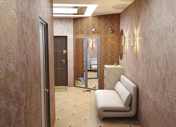 Обои для коридора и прихожей - особенности выбора отделки и фото идеи с рекомендациями