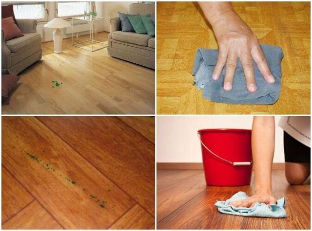 Пятна на линолеуме - методы очистки и рекомендации, чем выводить пятна