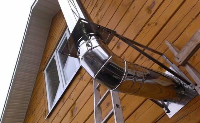 Дымоход для газового котла - виды и пошаговая инструкция