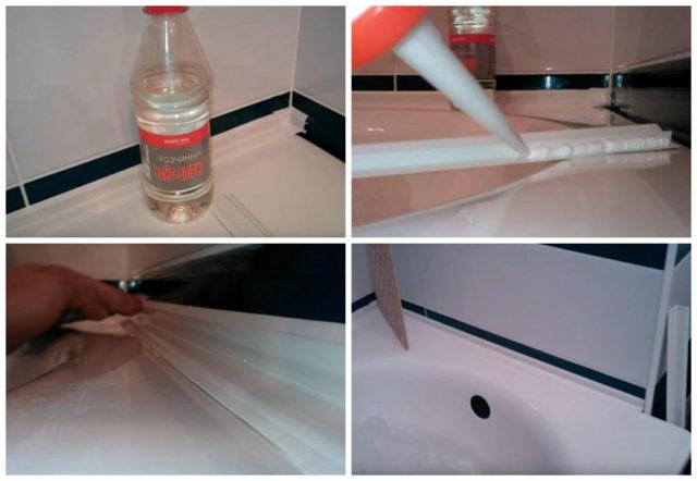 Как заделать стык между ванной и стеной - доступные каждому варианты