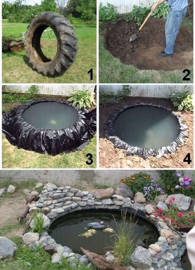 Как сделать пруд на даче своими руками пошаговое видео и фото